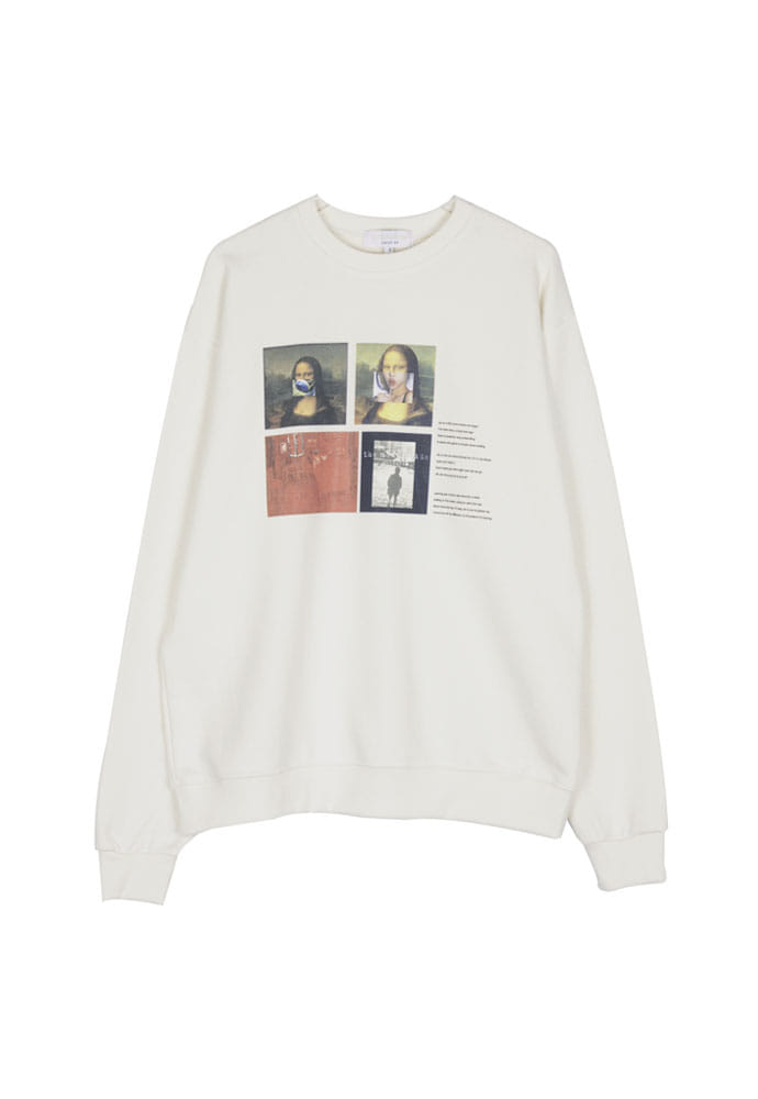 The Modern Age Collage Crewneck_ Ecru