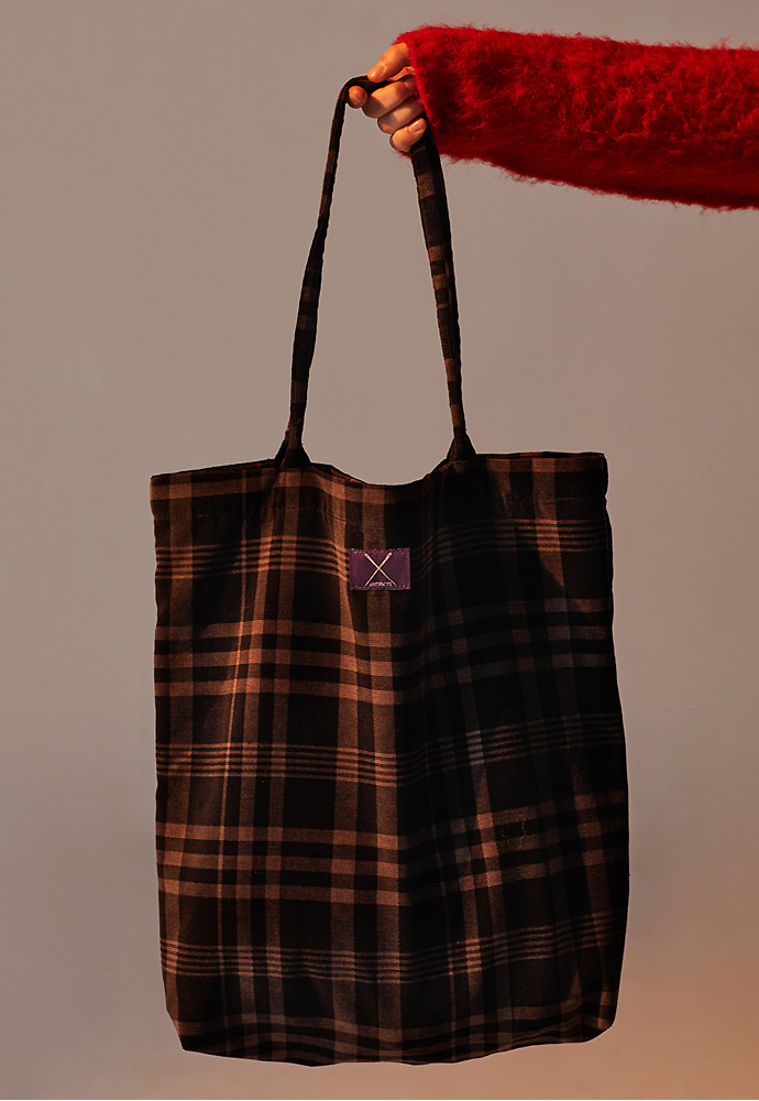 Corduroy Eco Bag_ Black Check