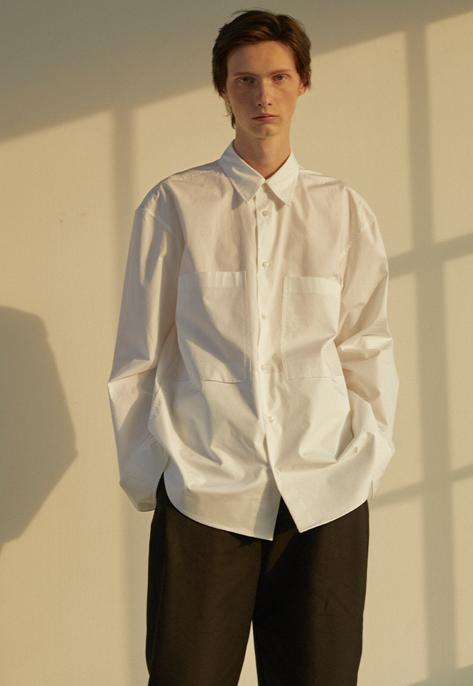 4 Pocket Oversized shirts_ White