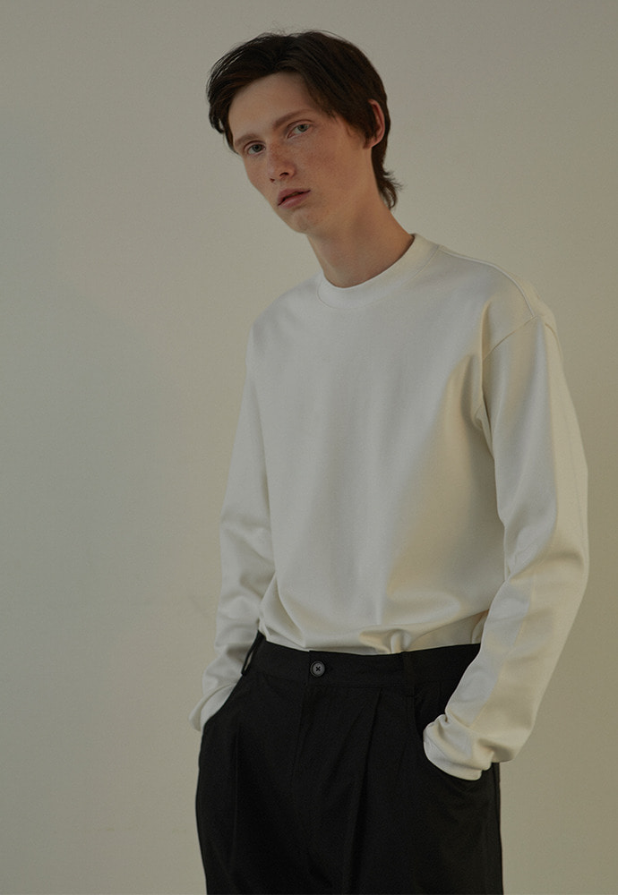 Mock Neck Long Sleeve_ White