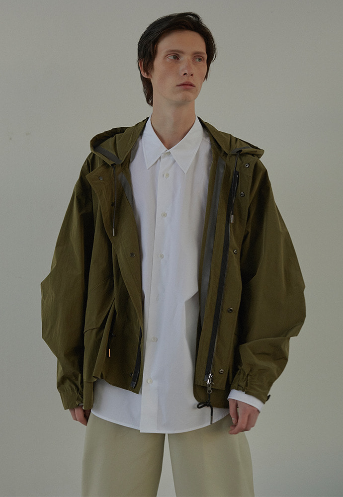 Half Reversible Waterproof Fishtail Shield_ Olive