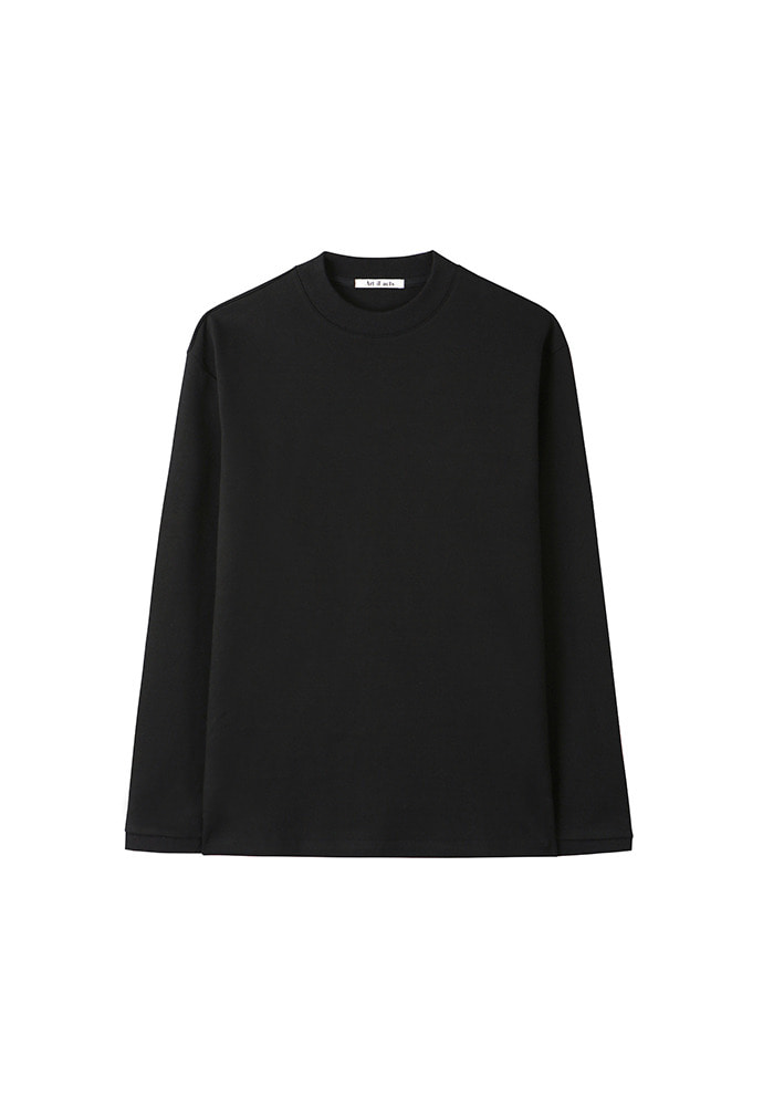 Mock Neck Long Sleeve_ Black