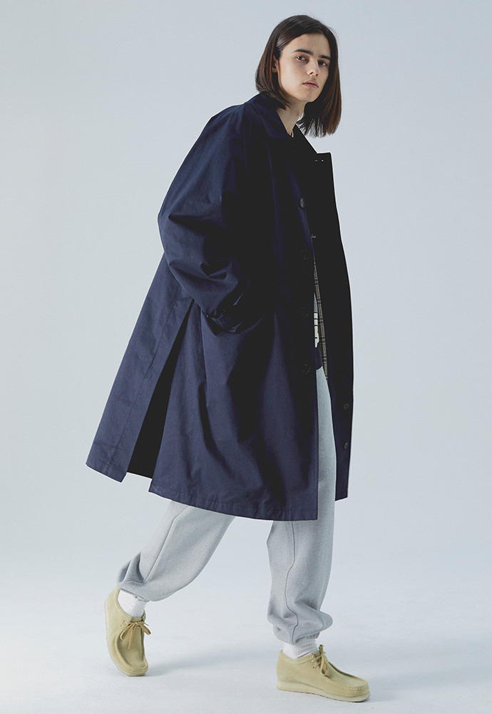 20SS Balmacaan Coat_ Dark Navy