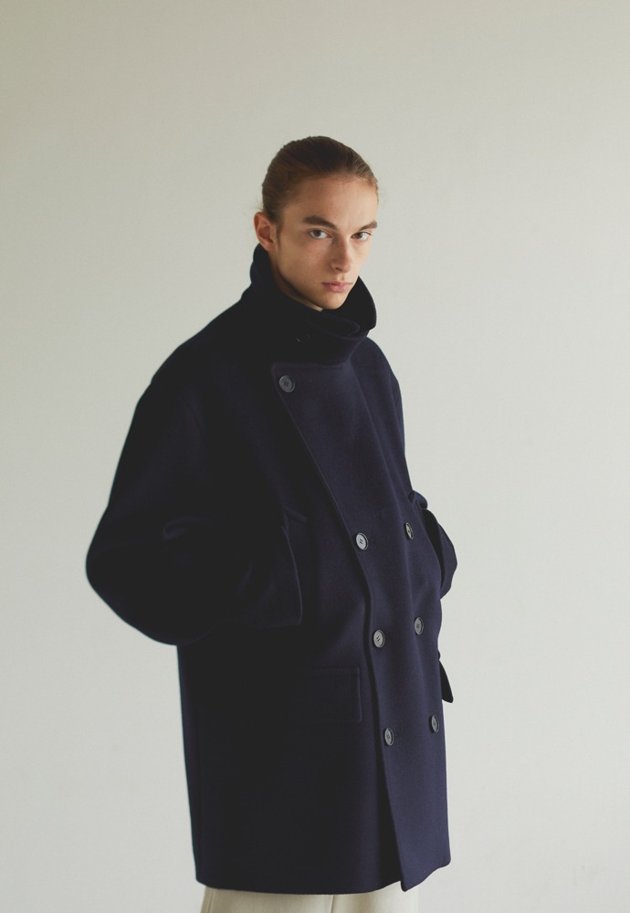 Oversized Pea Coat_ Navy