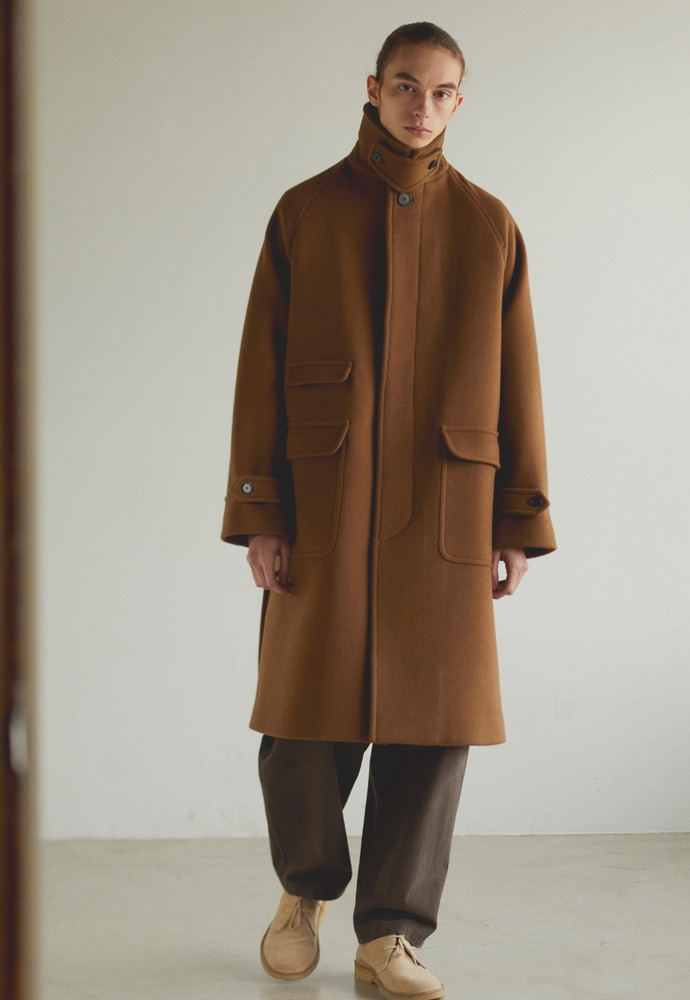 Balmacaan Coat_ Brown