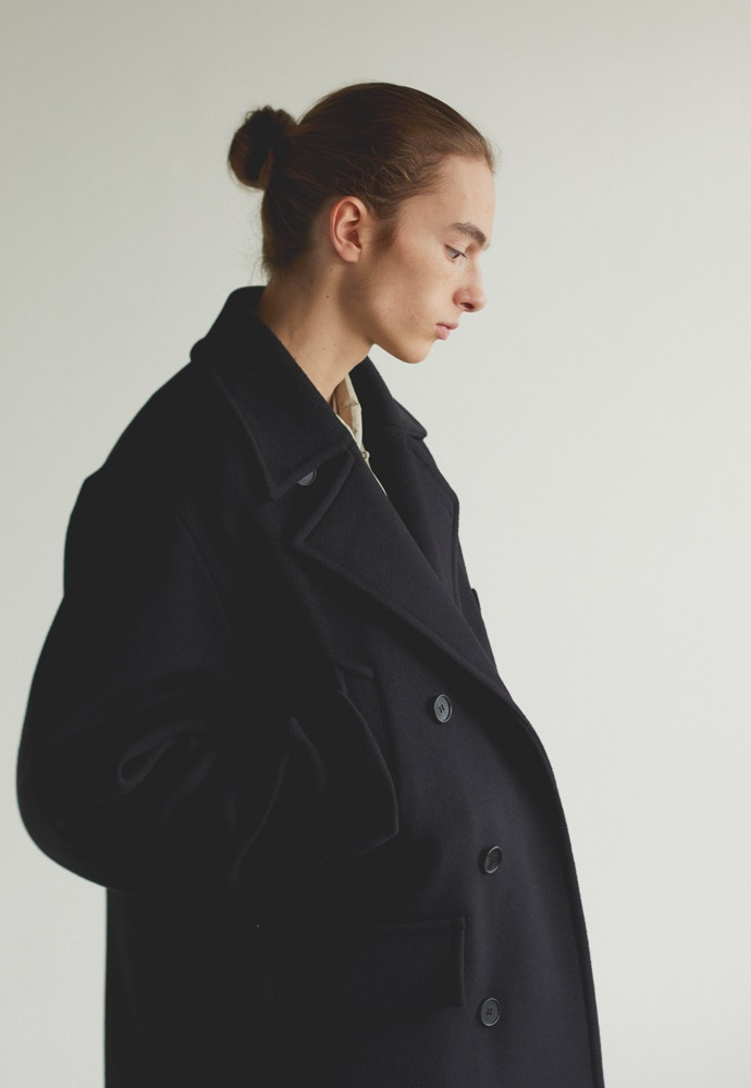 Oversized Pea Coat_ Black