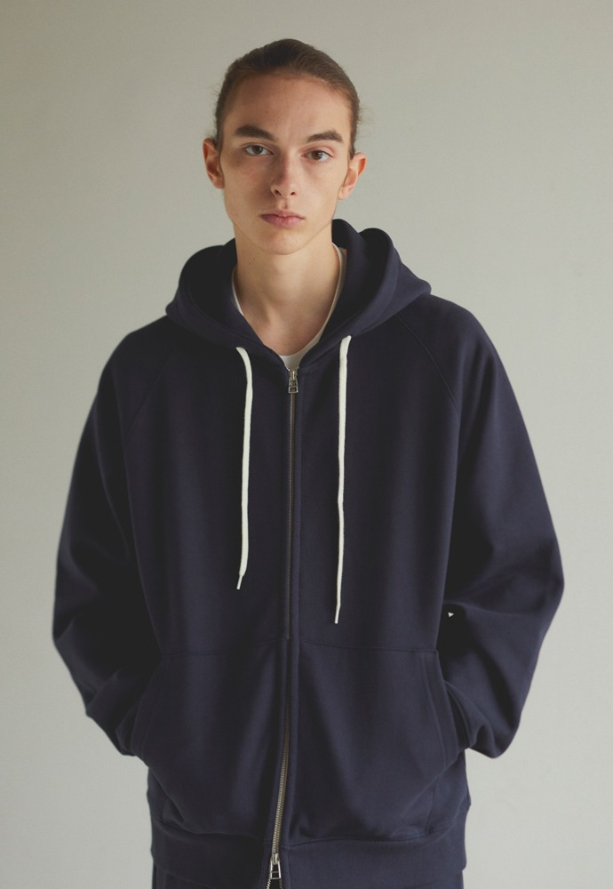 Heavy Hooded Sweat Shirt(zipup)_ Navy