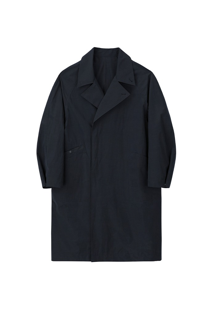 Double Breasted Paper Coat_ Navy
