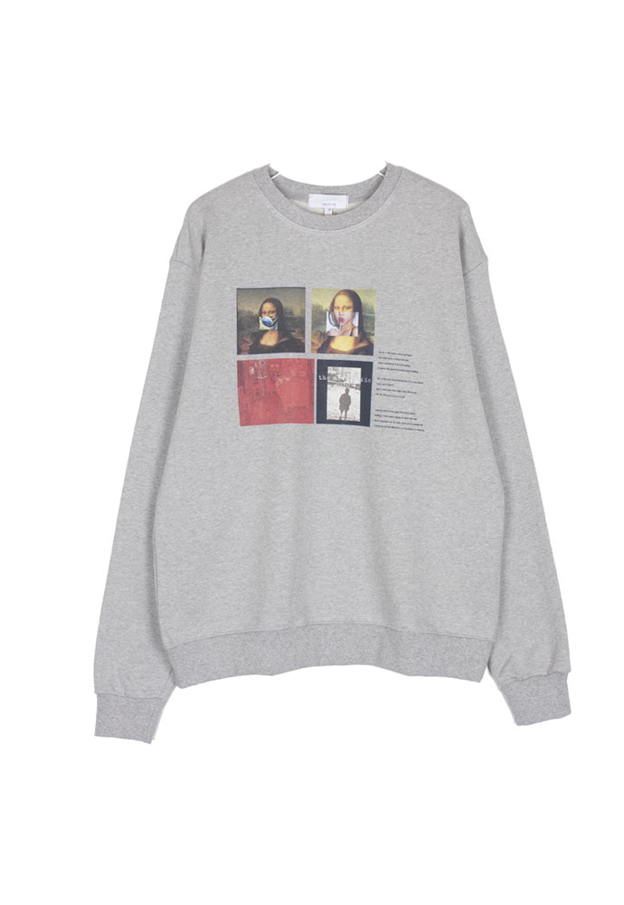 The Modern Age Collage Crewneck_ Grey