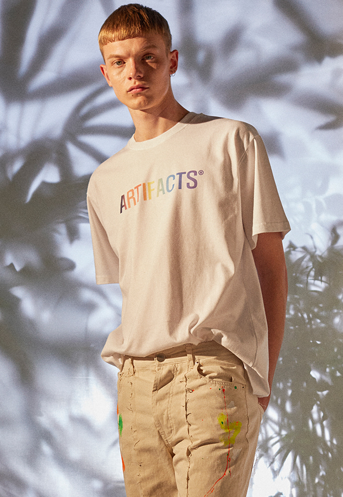 ARTIFACTS Rainbow  Logo Tee_ White