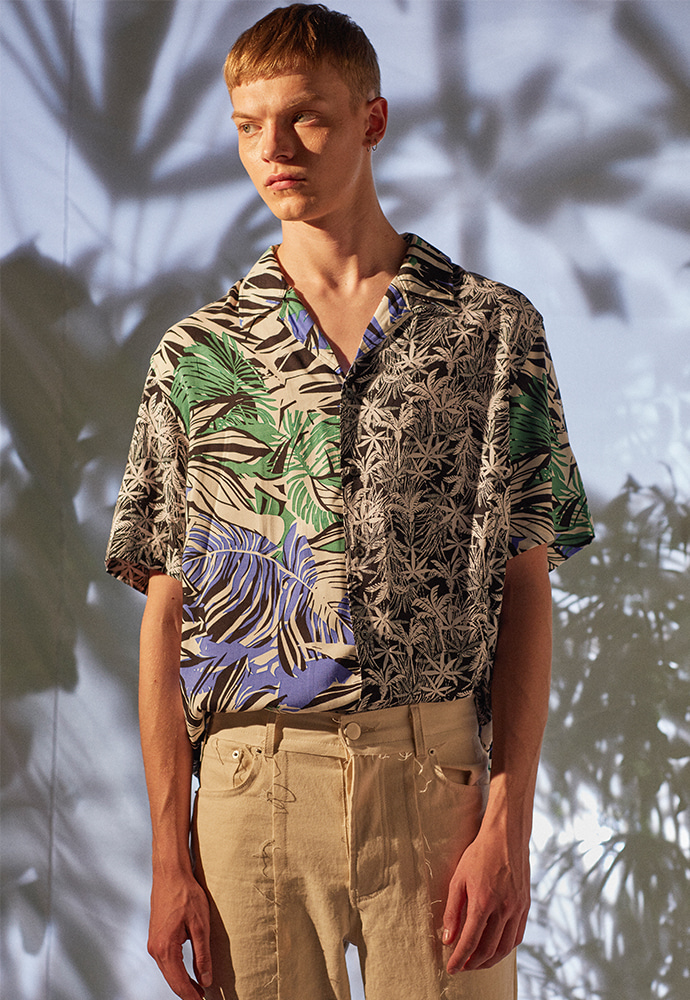 Segment PalmTree Open Collar Shirt