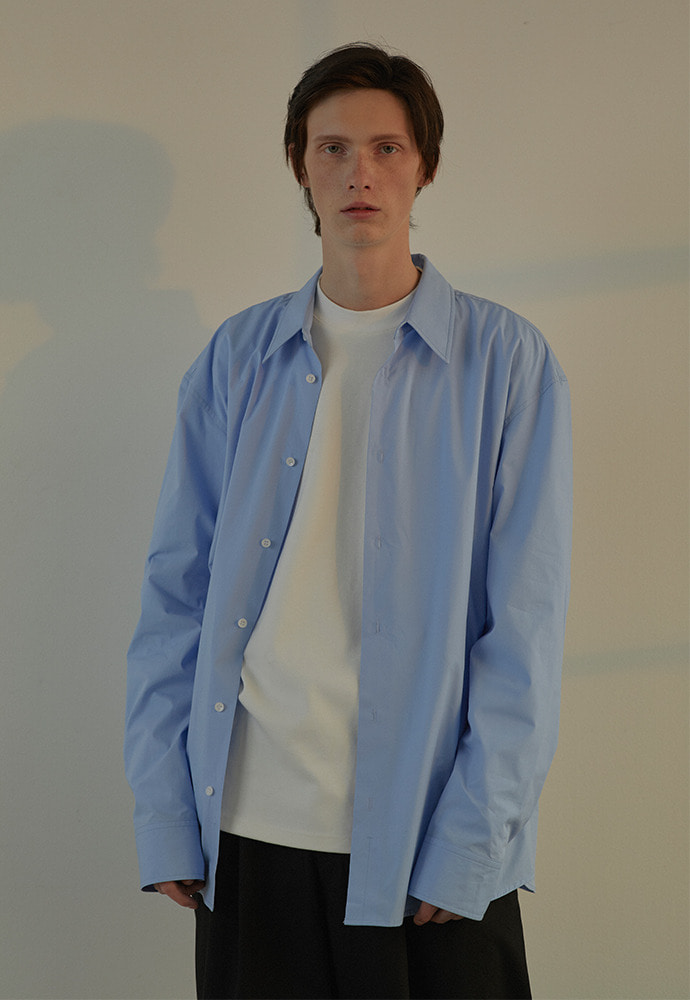 Minimal Oversized Shirt_ Sky Blue