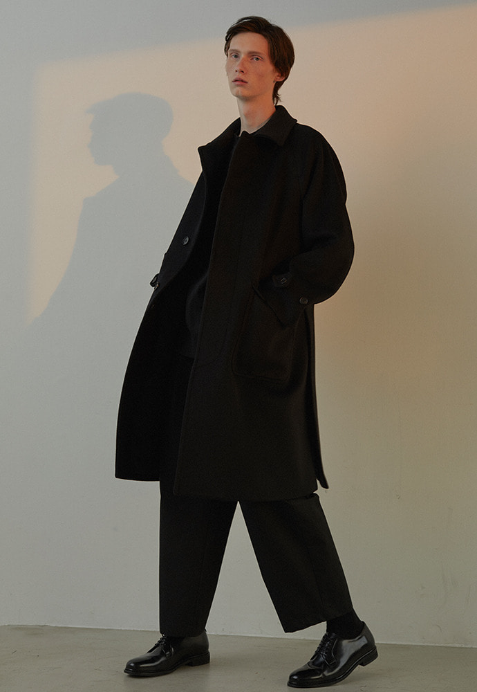 Balmacaan Coat_ Black