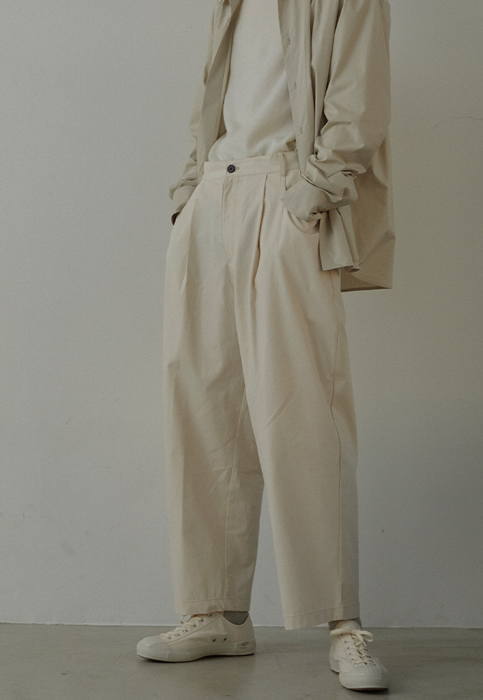 19FW Structured Wide Pants_ Ivory