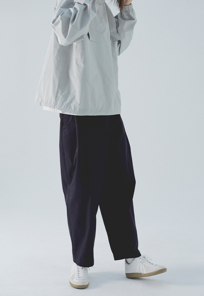 Side Tucked Pants_ Navy