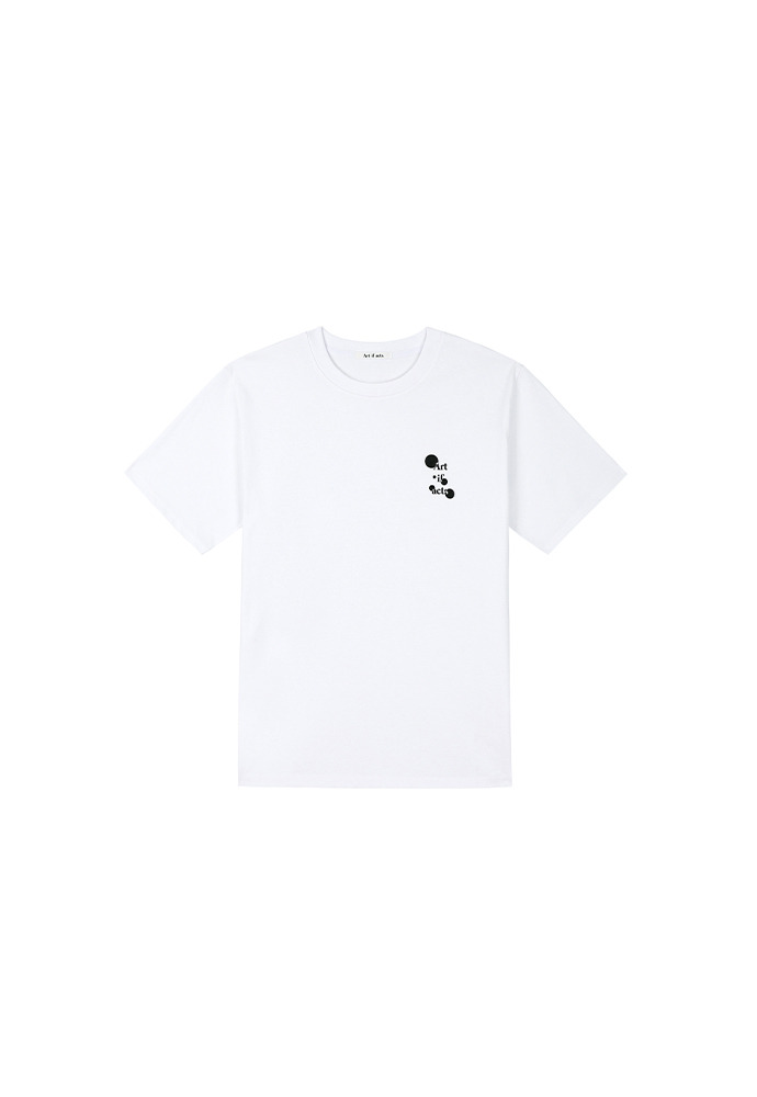 Art if acts Dot Logo T-shirts_ White