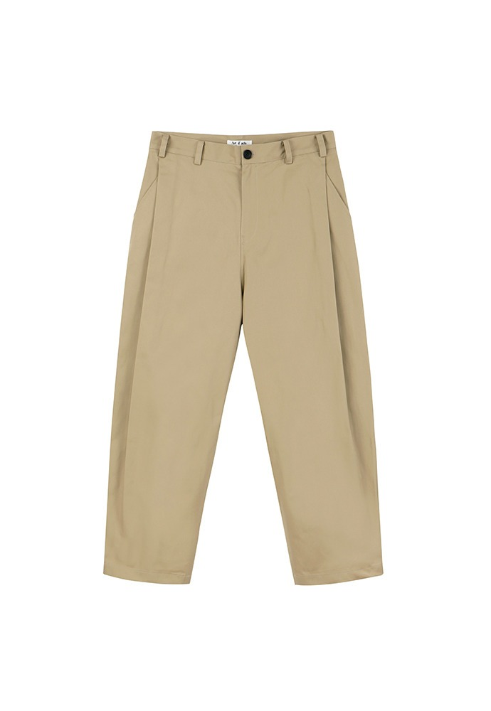 Side Tucked Pants_ Beige
