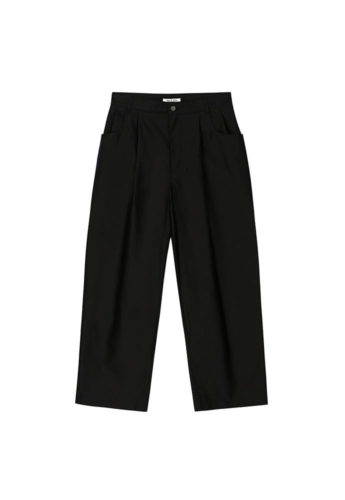 Structured Wide Pants_ Black