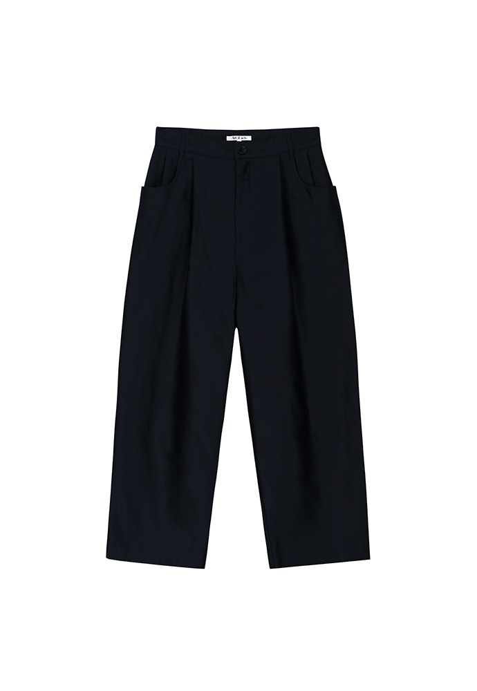 Structured Wide Pants_ Dark Navy