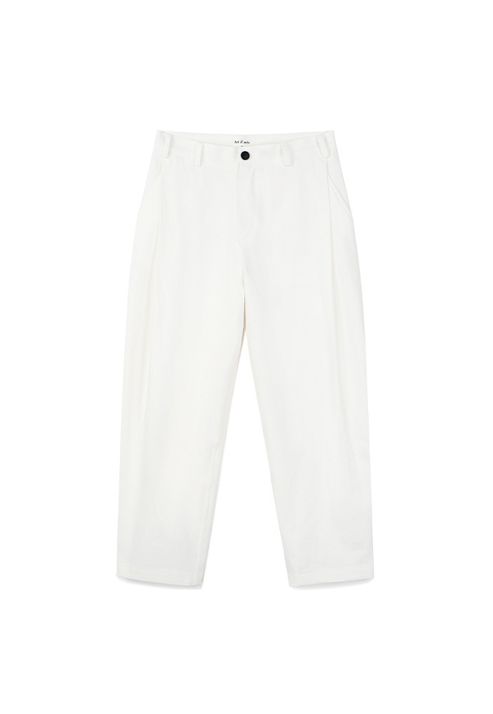 Side Tucked Pants_ Cream