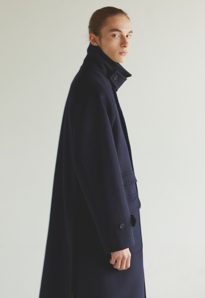 Balmacaan Coat_ Navy