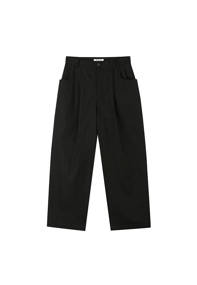 19FW Structured Wide Pants_ Black