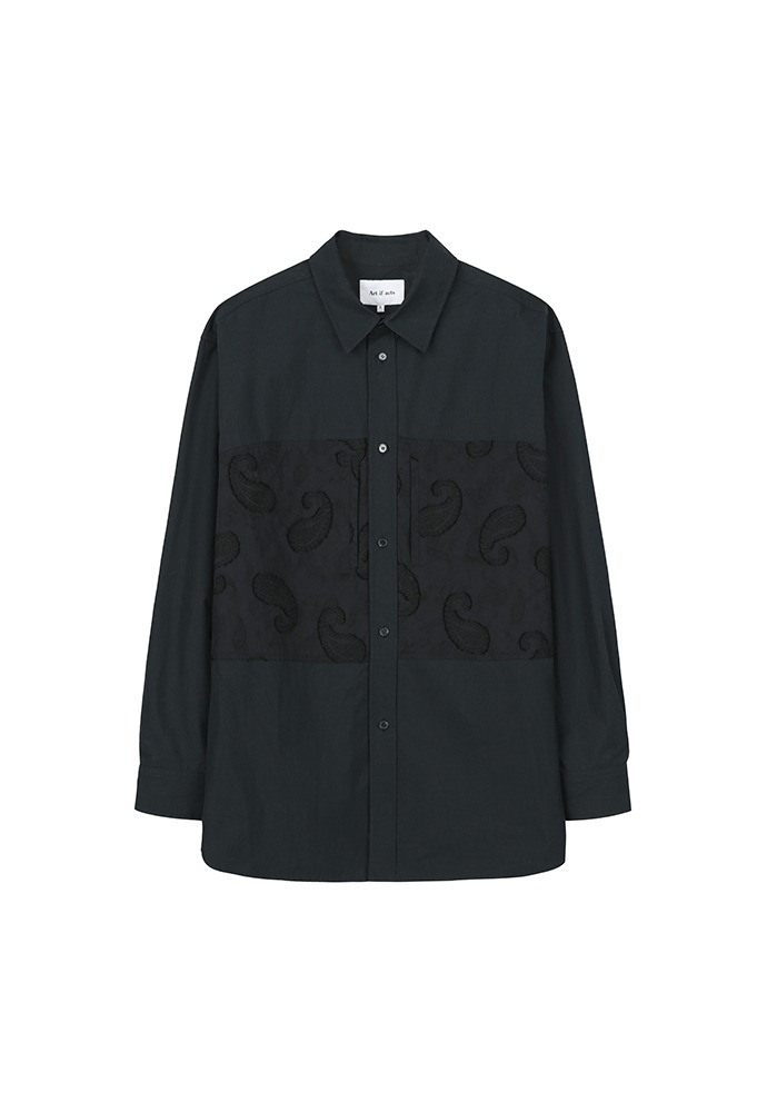 Paisley Pocket Shirt_ Dark Navy