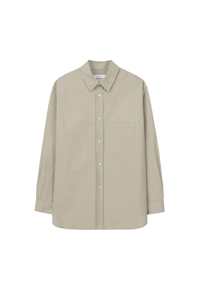 Solid Pocket Shirt_ Beige