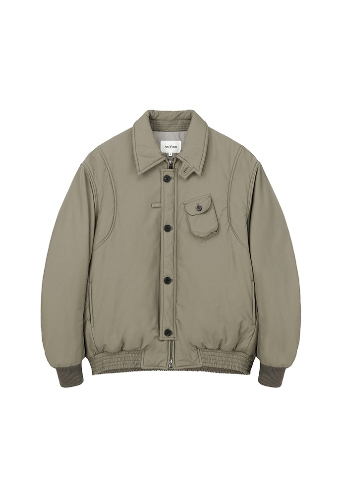 Solid Pocket MA-1_ Olive Green