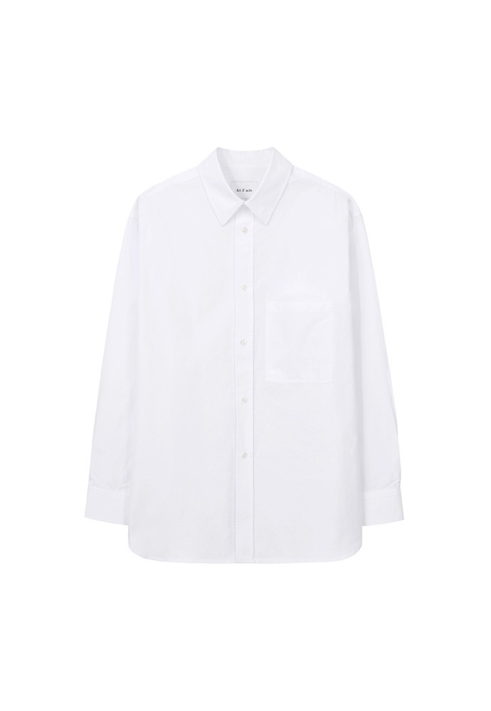 Solid Pocket Shirt_ White