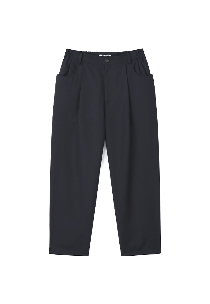 Structured Wide Pants(Relaxed)_ Dark Navy