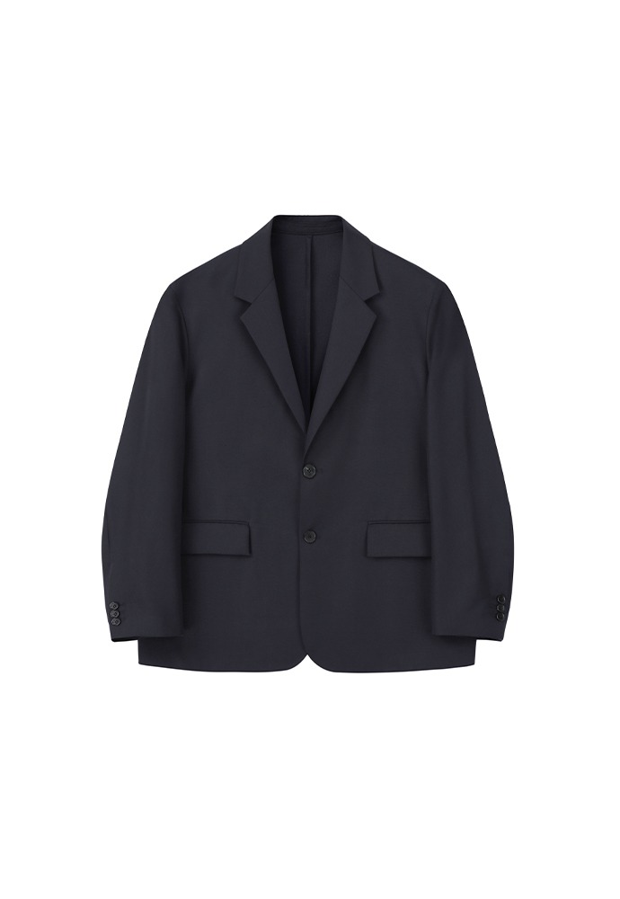 Relaxed 2 Button Single Jacket_ Dark Navy