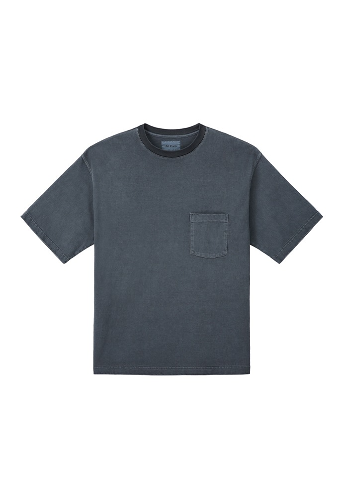 One Pocket Garment Dyeing T-Shirts_ Dark Indigo